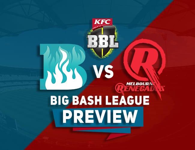 BRH vs MLR Dream11 Team Prediction, Preview: BBL| Last league match!