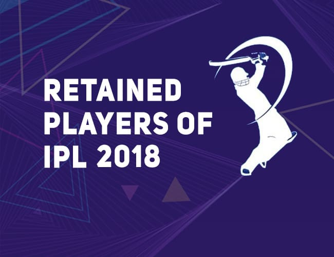 Retained Players for IPL 2018