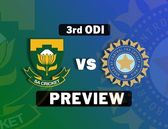 SA Vs IND 3rd ODI Preview