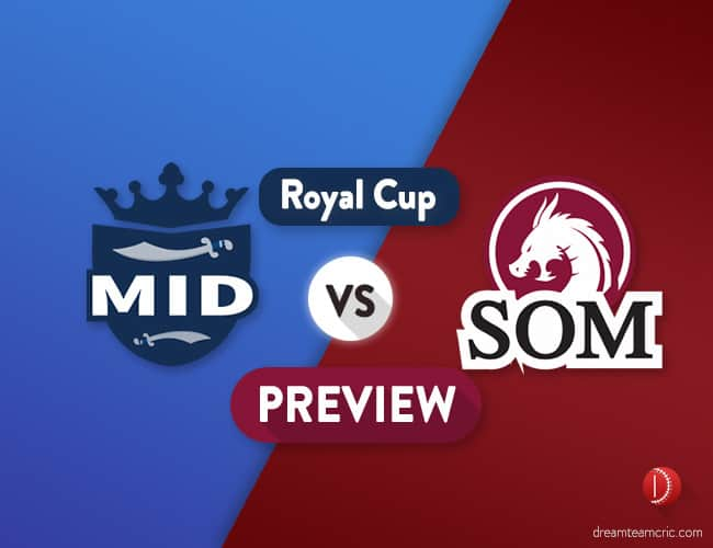 MID vs SOM Dream11 Team Prediction and Probable XI: Preview