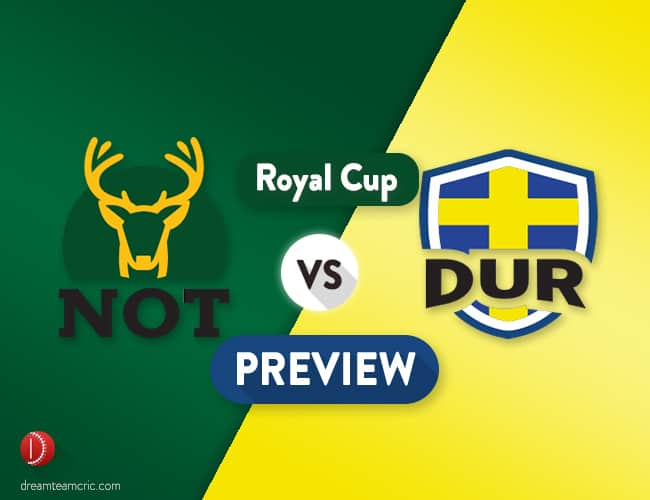 NOT vs DUR Dream11 Team Prediction and Probable XI: Preview| Collingwood Rested