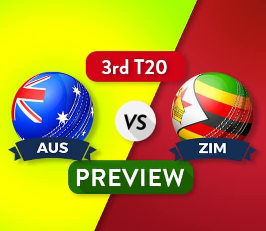 AUS vs ZIM Dream11Team Prediction, Probable XI: 3rd T20I Preview