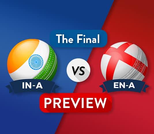 IN-A vs EN-A Dream11 Team Prediction : Preview | The Final Battle