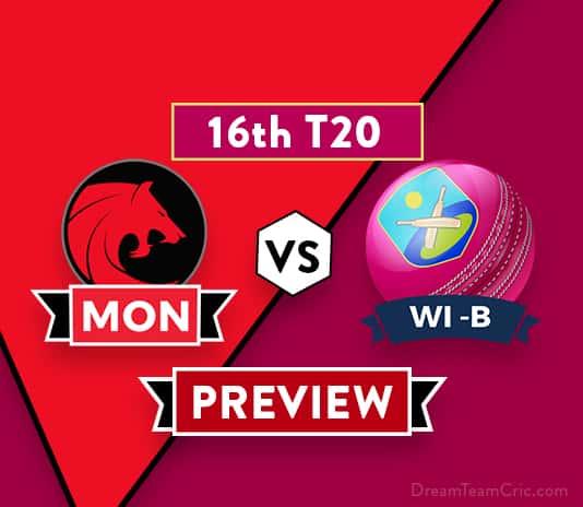 MON vs WI-B Dream11 Team Prediction and Probable XI: Preview