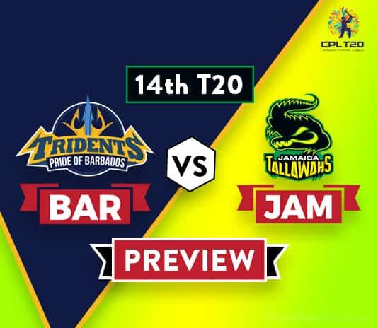 BAR vs JAM Dream11 Team Prediction: Preview | Losing teams