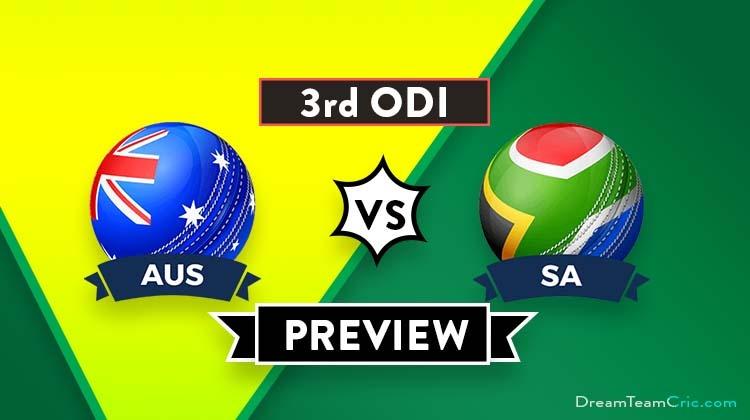 AUS vs SA 3rd ODI Dream11 Team Prediction : Preview| Can AUS clinch the advantage?