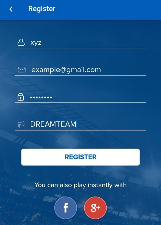 BalleBaazi Registration Form