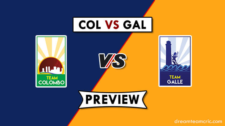 COL VS GAL Dream11