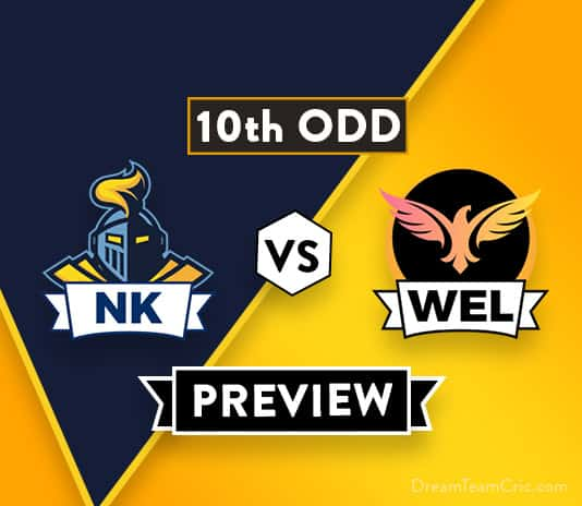 NK vs WEL 10th ODD Dream11 Team Prediction : Preview | Ollie Newton is back
