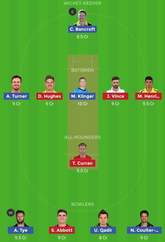 PS vs SDS Dream11 Team
