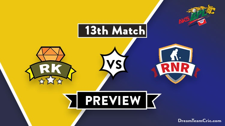 RK vs RNR Dream11