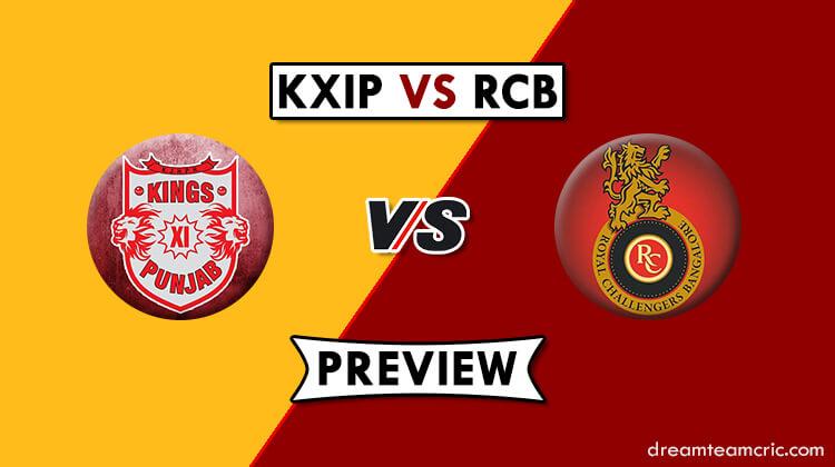 RCB vs KXIP Dream11