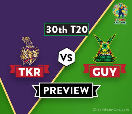 TKR vs GUY Dream11 Prediction: Preview | Colin Ingram in for Chris Lynn