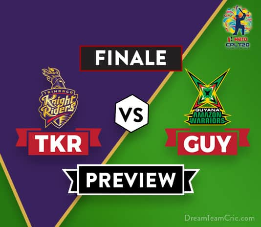 TKR VS GUY Dream11 Team Prediction of CPL: Preview