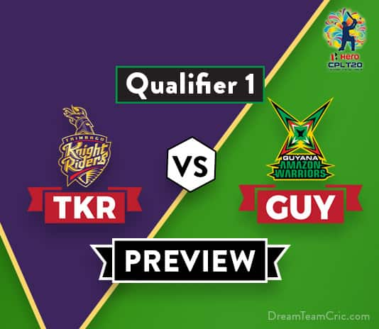 TKR vs GUY Dream11 Team Prediction and Probable XI: Preview| Qualifier One
